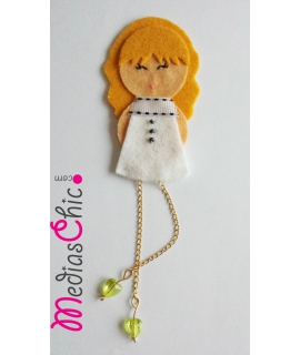 Broche fieltro modelo Julia